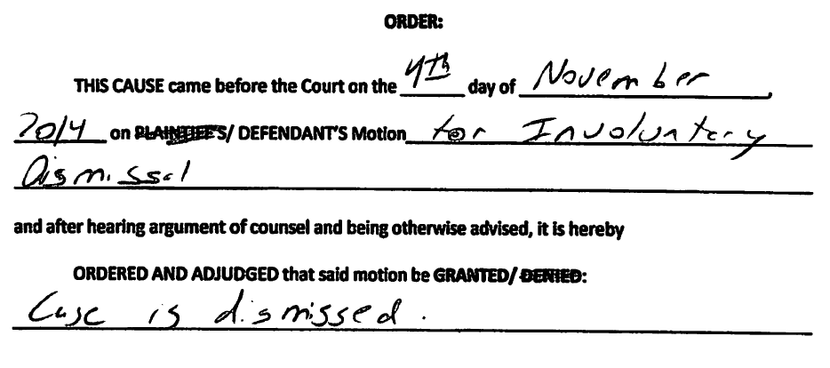 involuntary dismissal